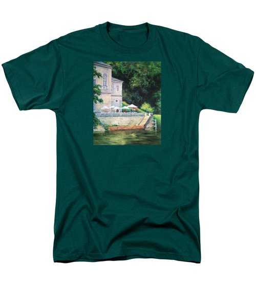 Chateau On The Lot River Men's T-Shirt  (Regular Fit) by Jill Musser