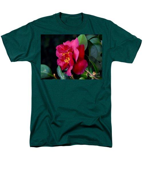 Christmas Camellia Men's T-Shirt  (Regular Fit) by Marie Hicks