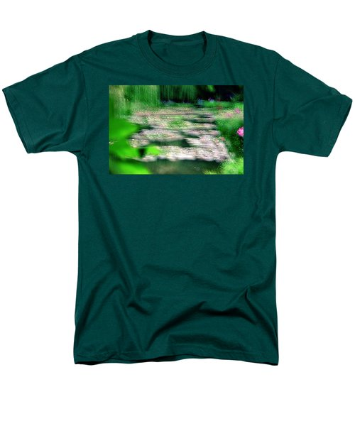 Men's T-Shirt  (Regular Fit) featuring the photograph Claude Monets Water Garden Giverny 1 by Dubi Roman