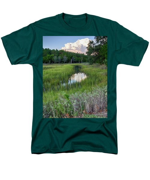 Men's T-Shirt  (Regular Fit) featuring the photograph Cloud Over Marsh by Patricia Schaefer
