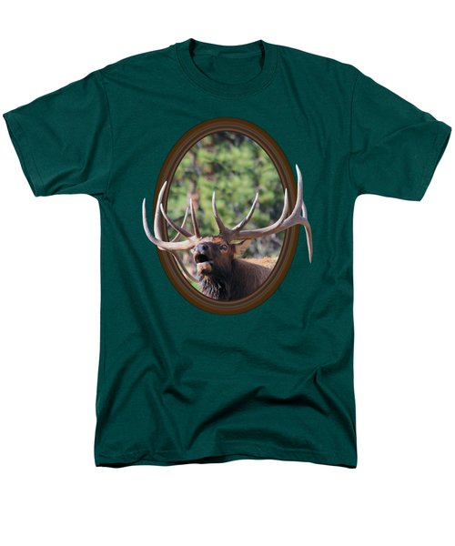Men's T-Shirt  (Regular Fit) featuring the photograph Colorado Bull Elk by Shane Bechler