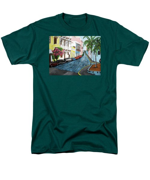 Colorful Old San Juan Men's T-Shirt  (Regular Fit) by Luis F Rodriguez