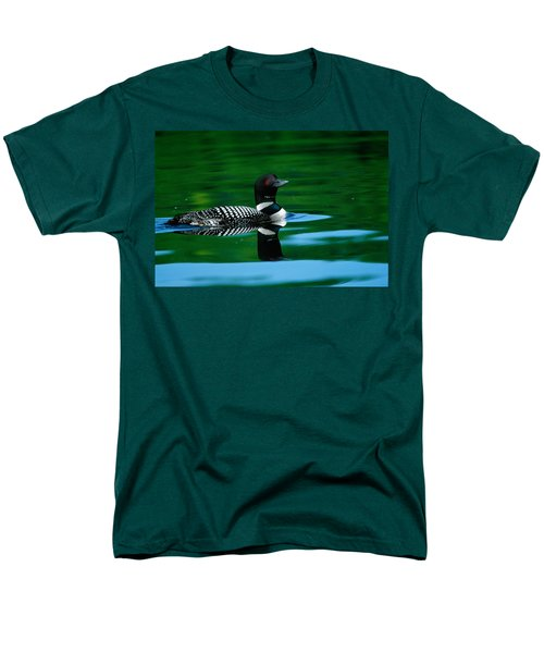 Common Loon In Water, Michigan, Usa Men's T-Shirt  (Regular Fit) by Panoramic Images