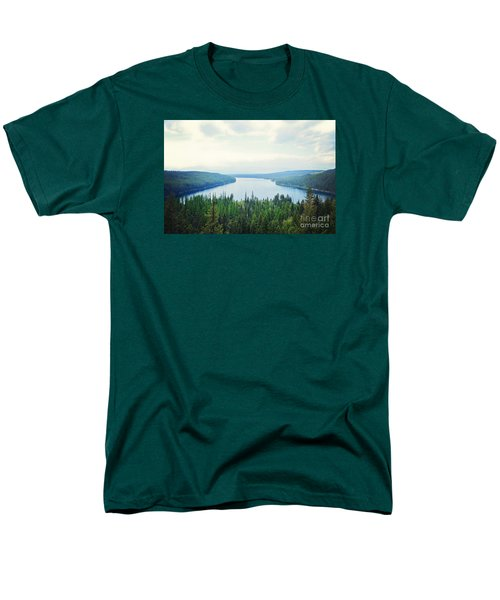 Men's T-Shirt  (Regular Fit) featuring the photograph Companionship- Holland Lake by Janie Johnson
