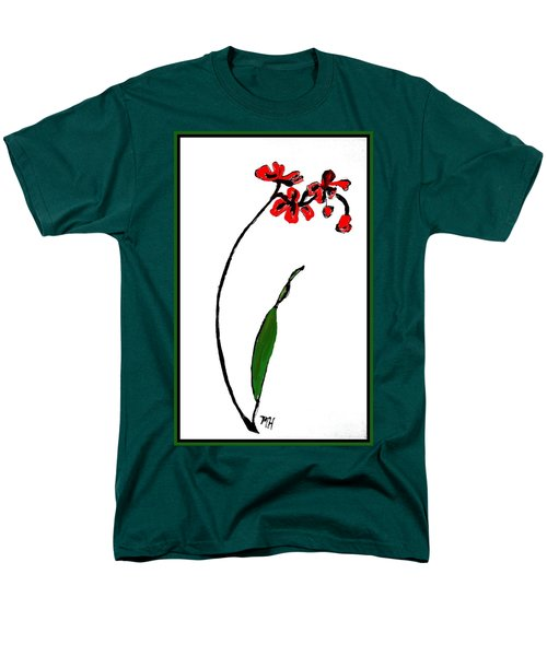 Men's T-Shirt  (Regular Fit) featuring the painting Contemporary Orchids by Marsha Heiken