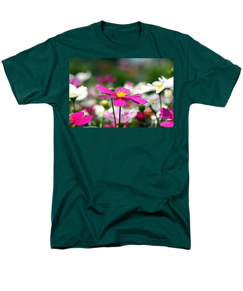 Men's T-Shirt  (Regular Fit) featuring the photograph Cosmos Flowers by Denise Pohl
