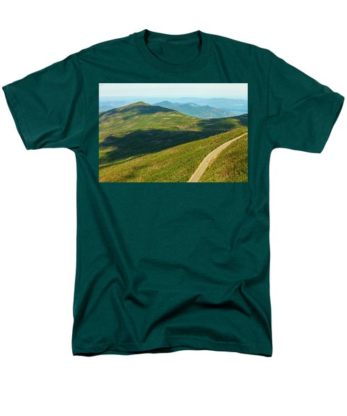Men's T-Shirt  (Regular Fit) featuring the photograph Country Road To My Home Whiteface Mountain New York by Paul Ge