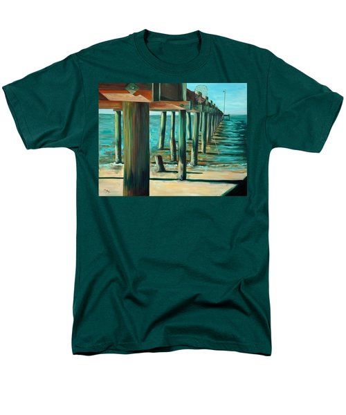 Men's T-Shirt  (Regular Fit) featuring the painting Crabbing At Low Tide by Suzanne McKee