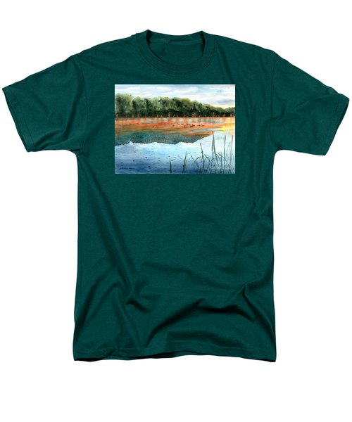 Men's T-Shirt  (Regular Fit) featuring the painting Crawford Lake Morning by LeAnne Sowa
