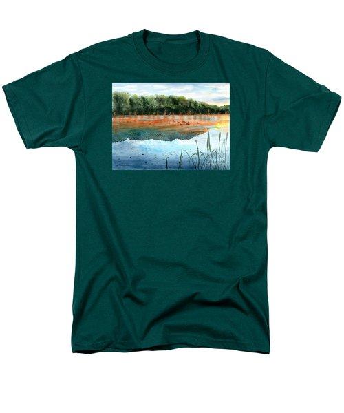 Crawford Lake Morning Men's T-Shirt  (Regular Fit) by LeAnne Sowa