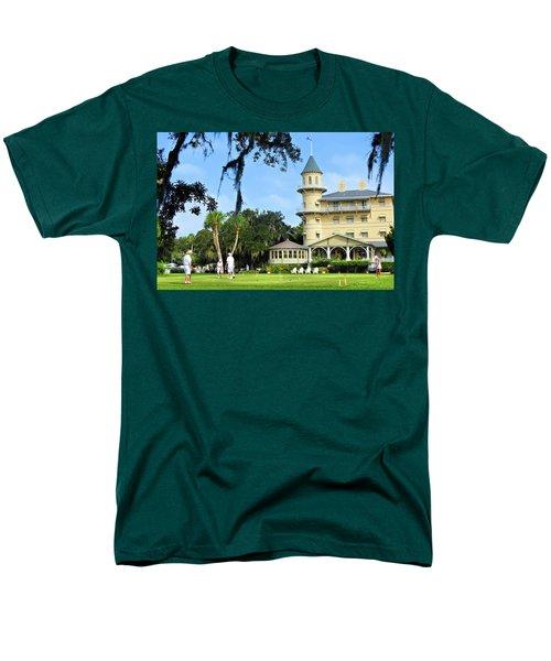 Croquet Anyone? Men's T-Shirt  (Regular Fit) by Laura Ragland