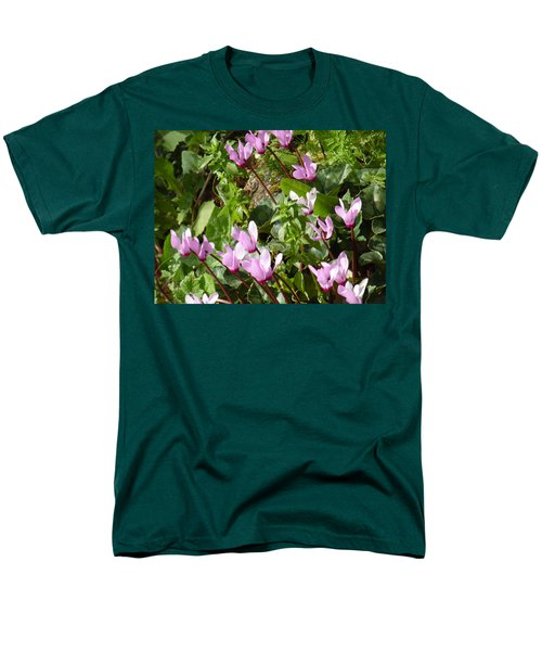 Cyclamen In Spring Men's T-Shirt  (Regular Fit) by Esther Newman-Cohen