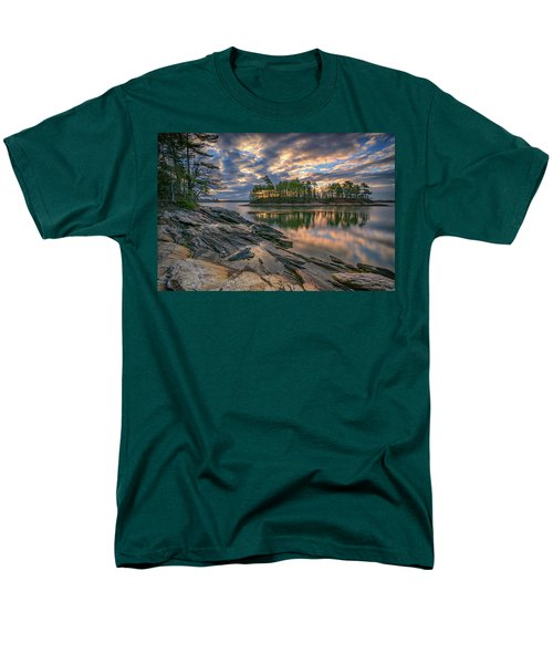Men's T-Shirt  (Regular Fit) featuring the photograph Dawn At Wolfe's Neck Woods by Rick Berk