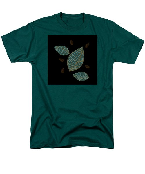 Men's T-Shirt  (Regular Fit) featuring the drawing Descending Leaves by Kandy Hurley