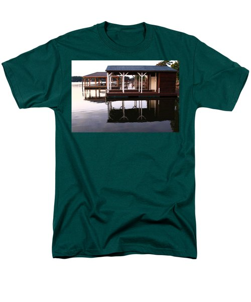 Dock Reflections Men's T-Shirt  (Regular Fit) by Catie Canetti