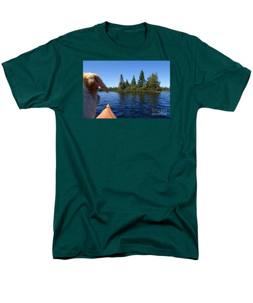 Men's T-Shirt  (Regular Fit) featuring the photograph Dogs Love Kayaking Too by Sandra Updyke