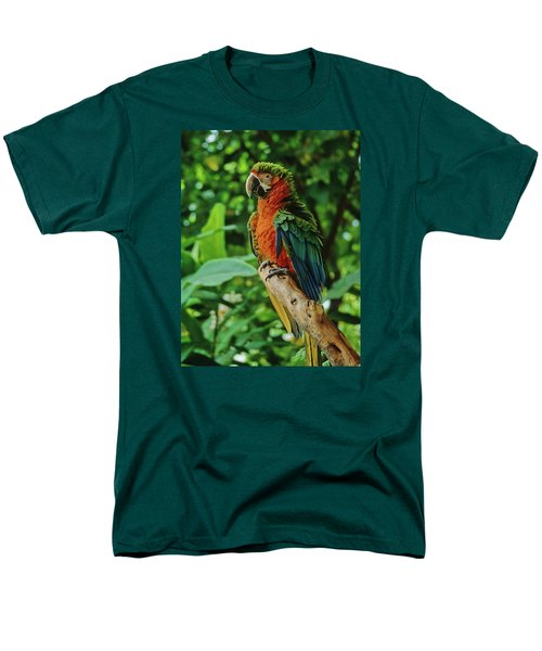 Men's T-Shirt  (Regular Fit) featuring the photograph Don't Ruffle My Feathers by Marie Hicks