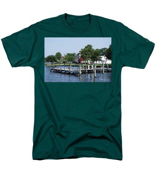 Edenton Waterfront Men's T-Shirt  (Regular Fit) by Gordon Mooneyhan