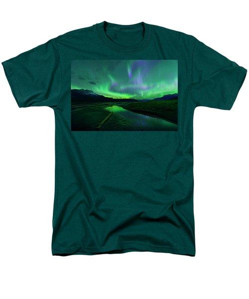 Men's T-Shirt  (Regular Fit) featuring the photograph Electric Skies Over Jasper National Park by Dan Jurak