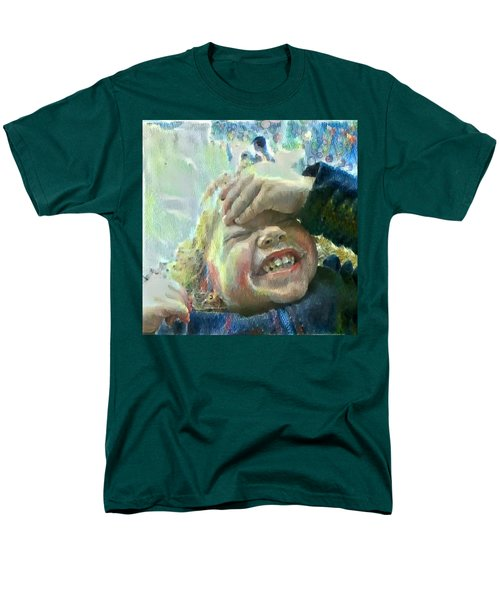 Men's T-Shirt  (Regular Fit) featuring the painting Esther, What Is So Funny? by MendyZ