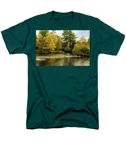 Fall Colour On The River Ness Islands Men's T-Shirt  (Regular Fit) by Jacqi Elmslie