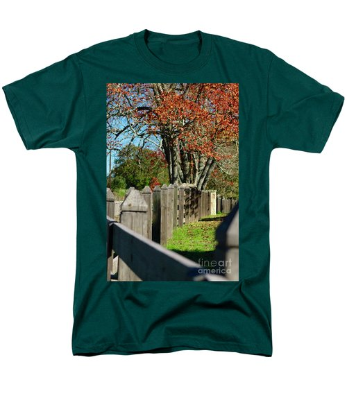 Familiar Fall Men's T-Shirt  (Regular Fit) by Lori Mellen-Pagliaro