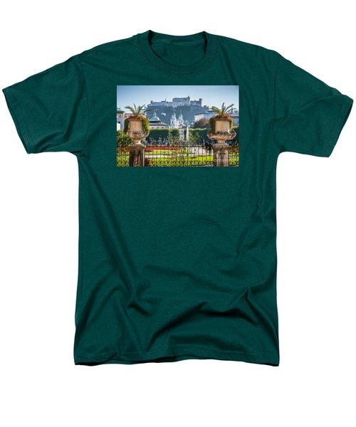 Famous Mirabell Gardens In Salzburg Men's T-Shirt  (Regular Fit) by JR Photography