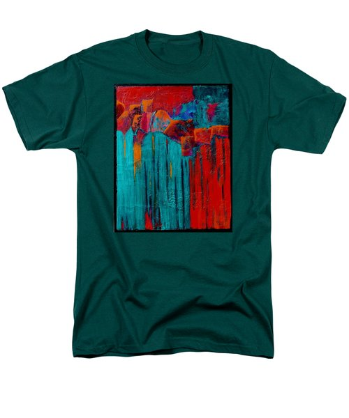 Men's T-Shirt  (Regular Fit) featuring the painting Waterfall by Nancy Jolley
