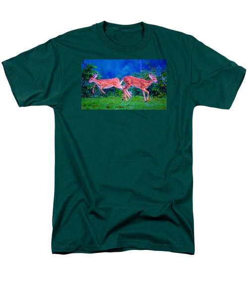Men's T-Shirt  (Regular Fit) featuring the photograph Fawn Frolic by Brian Stevens