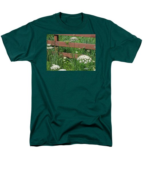 Men's T-Shirt  (Regular Fit) featuring the photograph Field Of Lace by Ann Horn