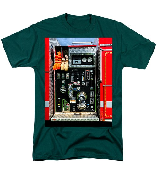 Fire Truck Control Panel Men's T-Shirt  (Regular Fit) by Dave Mills