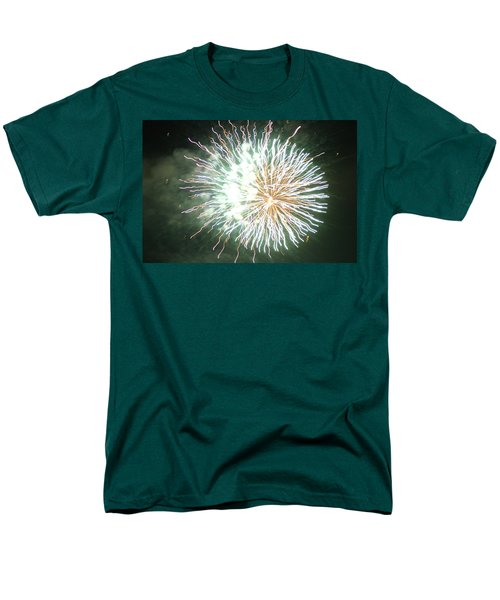 Men's T-Shirt  (Regular Fit) featuring the digital art Fireworks In The Park 4 by Gary Baird