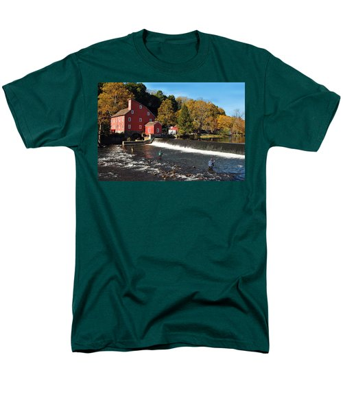 Fishing At The Old Mill Men's T-Shirt  (Regular Fit)