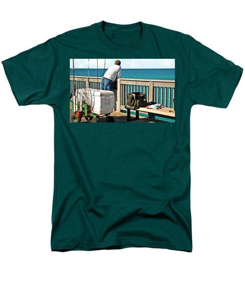 Fishing At The Pier Men's T-Shirt  (Regular Fit) by Susan Leggett