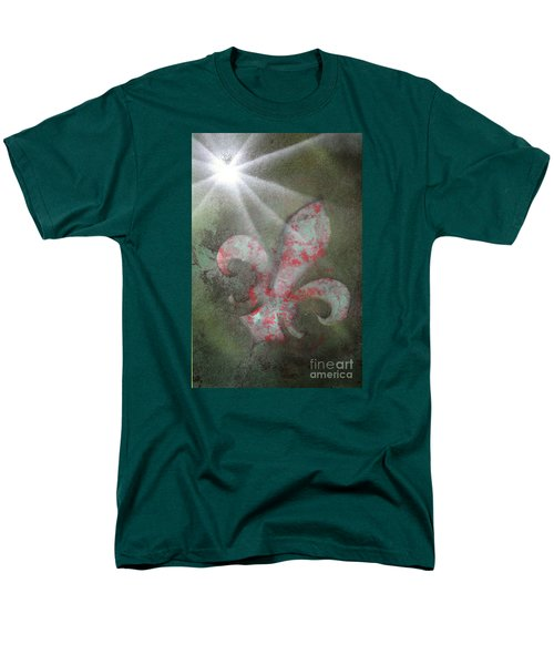 Men's T-Shirt  (Regular Fit) featuring the painting Fleur Di Lis by Tbone Oliver