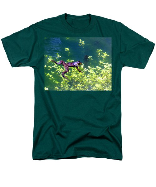 Floating Frog Men's T-Shirt  (Regular Fit) by Nick Gustafson