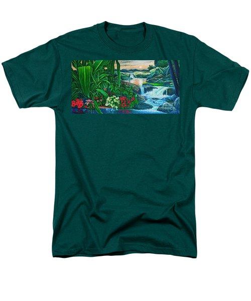 Flower Garden Ix Men's T-Shirt  (Regular Fit) by Michael Frank