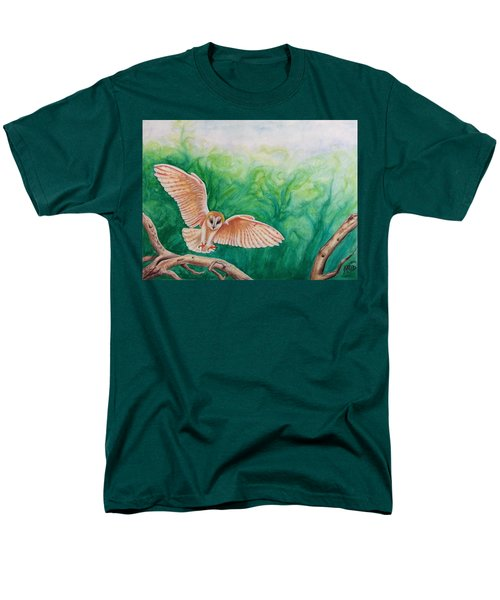Flying Owl Men's T-Shirt  (Regular Fit) by Steed Edwards