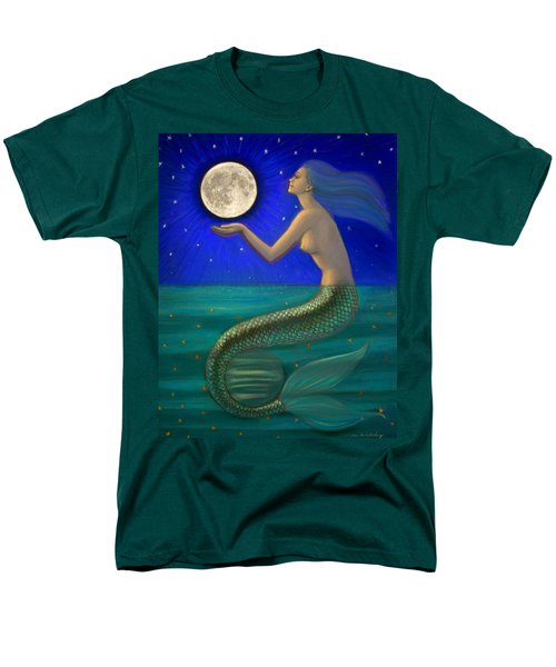 Full Moon Mermaid Men's T-Shirt  (Regular Fit) by Sue Halstenberg