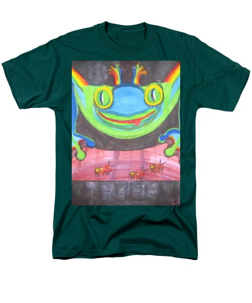 Men's T-Shirt  (Regular Fit) featuring the painting Funky Frog by Cathy Long