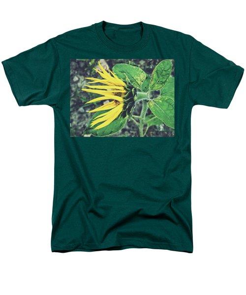Men's T-Shirt  (Regular Fit) featuring the photograph Funny Sunflower by Karen Stahlros