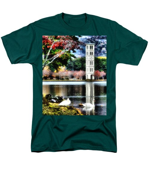Men's T-Shirt  (Regular Fit) featuring the painting Furman University Bell Tower by Lynne Jenkins