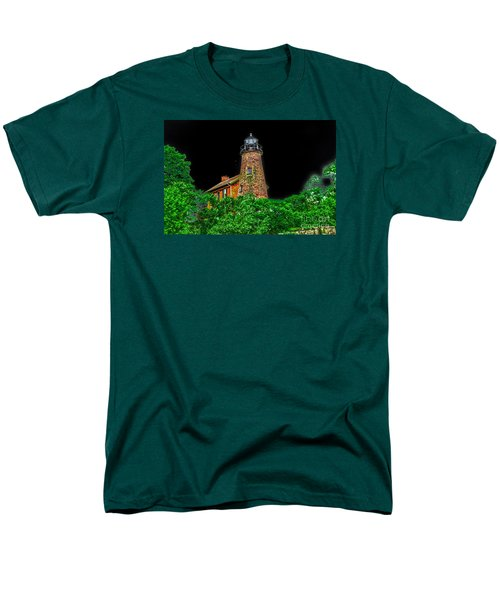 Genesee Lighthouse Men's T-Shirt  (Regular Fit) by William Norton