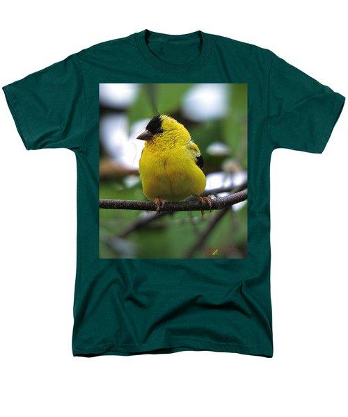 Men's T-Shirt  (Regular Fit) featuring the digital art Goldfinch by John Selmer Sr