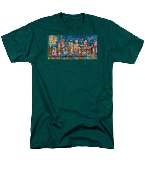 Goodnight Nashville Men's T-Shirt  (Regular Fit) by Kirsten Reed