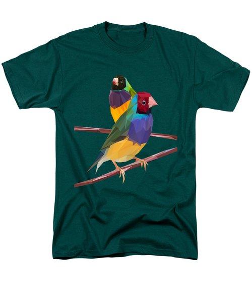 Gouldian Finch Duo Men's T-Shirt  (Regular Fit)