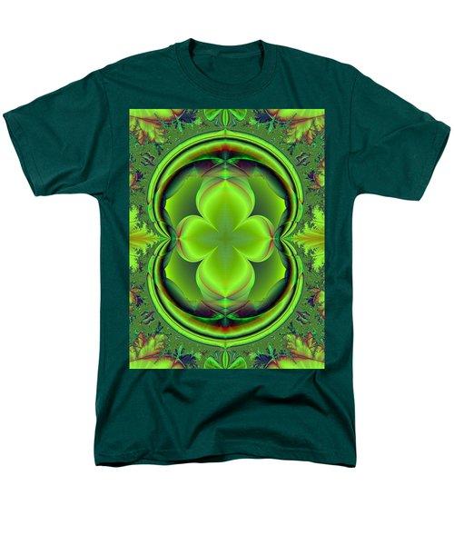 Men's T-Shirt  (Regular Fit) featuring the digital art Green Clover by Svetlana Nikolova