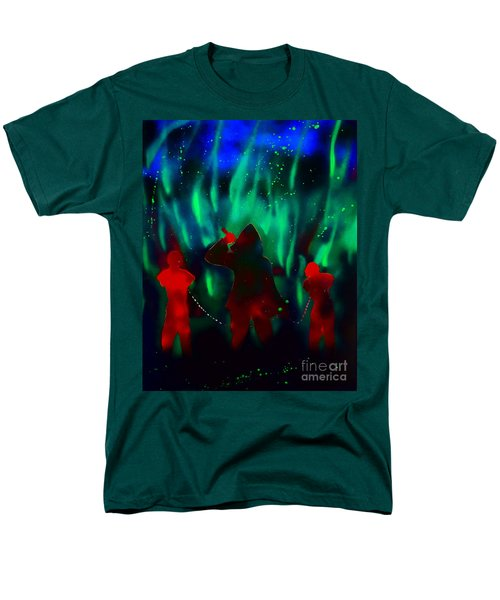 Green Flames In The Night Men's T-Shirt  (Regular Fit) by Justin Moore