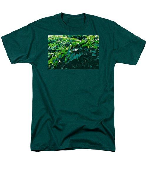 Green Leaves Men's T-Shirt  (Regular Fit) by John Rossman