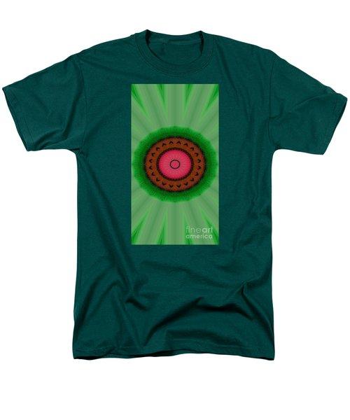 Green Mandala Painting By Sariblle Men's T-Shirt  (Regular Fit) by Saribelle Rodriguez